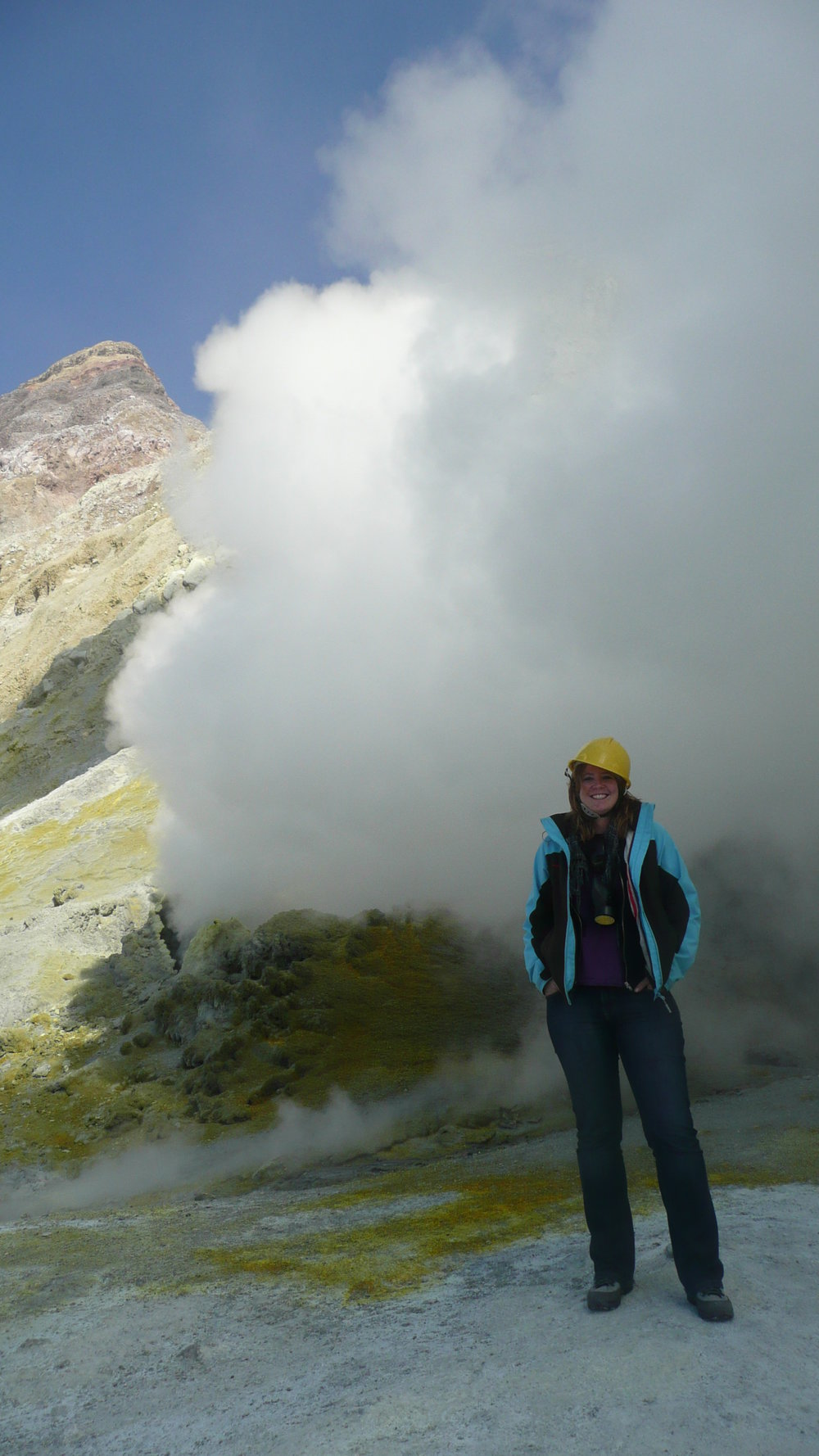 smelly steam on White island