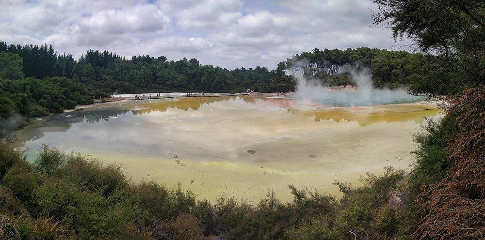 Fantastic artist's palette in Waiotapu geothermal wonderland, rotorua