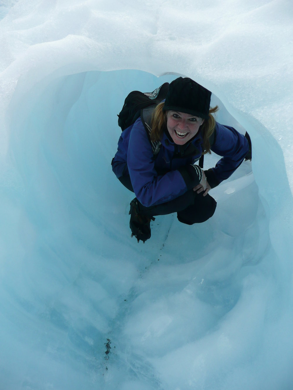 Me in an ice cave on Franz Joseph Glacier