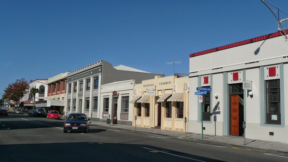 Art deco houses in Napier