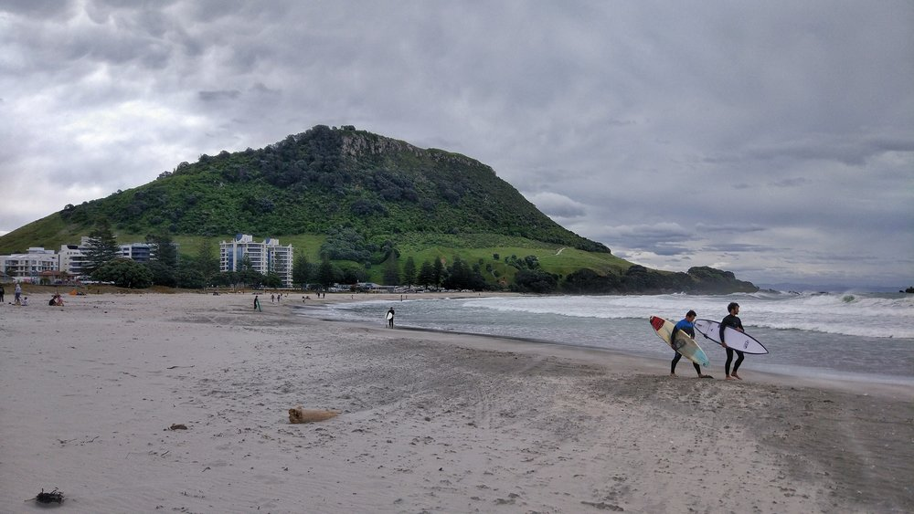 Surfing in Mount Maunganui
