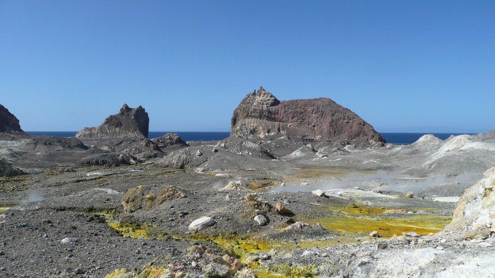 other-worldly white island, Bay of Plenty