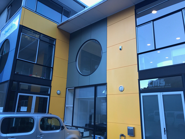 NGAIO – Commercial - We were contracted to paint this commercial property for Construction Marketing Services to align with their new company colour schedule.