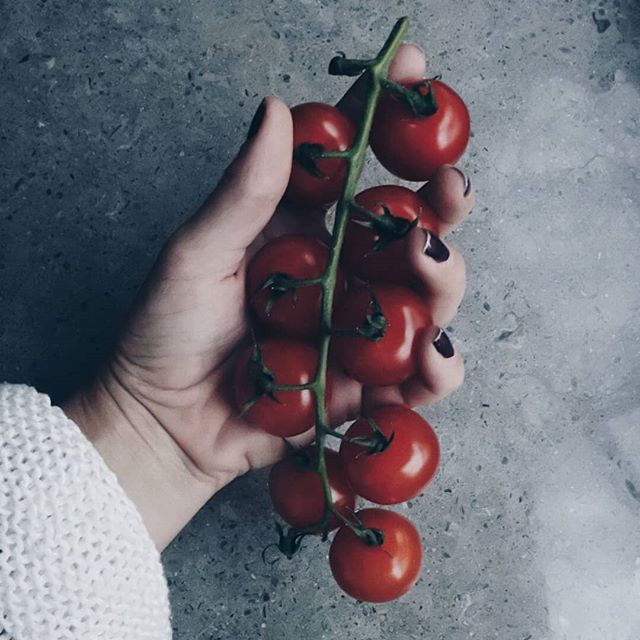 C H E R R Y  T O M A T O E S - here to protect your body from free radicals and toxic substances that cause damage to your cells, may as well help lower your risk of a number of chronic illnesses, including heart disease and cancer ❤🍅💯