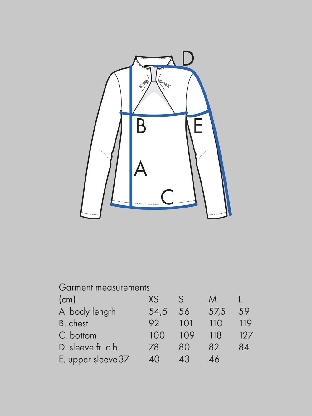 ELASTIC TIE SWEATER Use bust measurement for sizing.