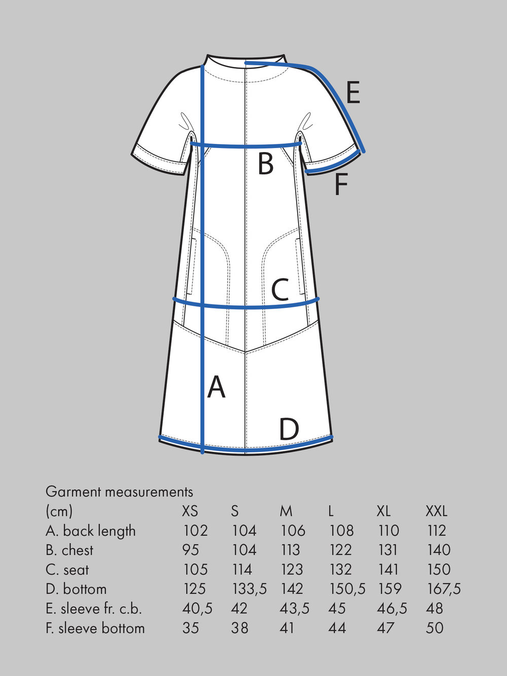 CAP SLEEVE DRESS Use bust and seat measurement for sizing.