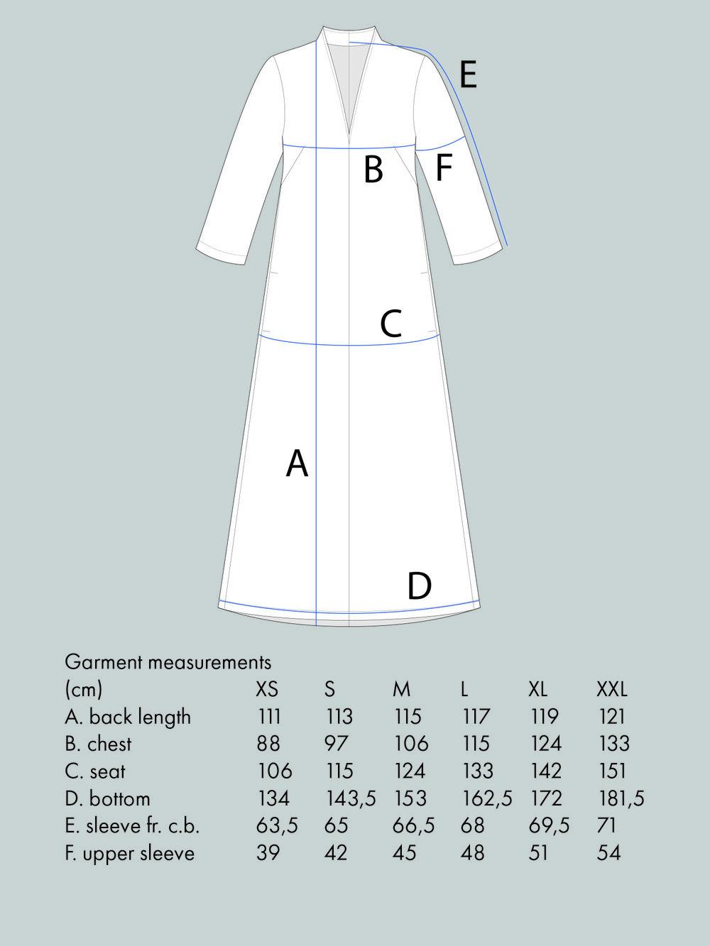 V-NECK DRESS Use bust measurement for sizing.