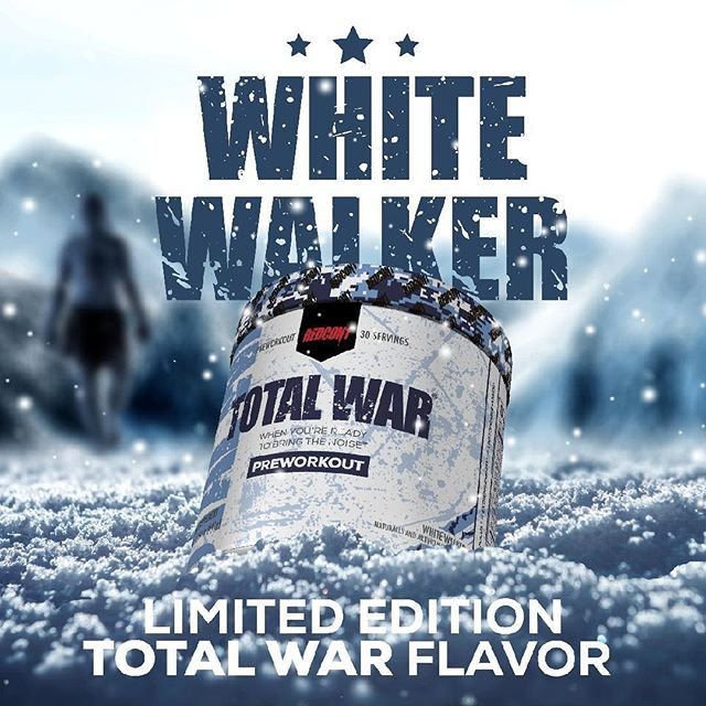 I'm actually excited and looking forward to trying the new #totalwar flavor #whitewalker next week 🤩🤩🔥🔥🔥 @redcon1