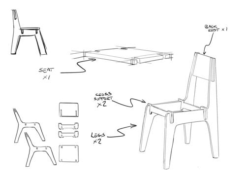 Furniture Sketch Industrial Design