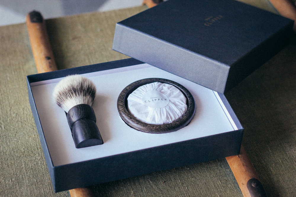 Ancient Shaving Set by Thomas Clipper - luxury handmade shaving bowl, soap and brush set