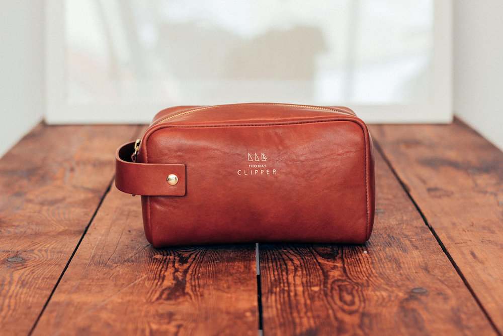 Hand made in Italy, the Tuscan wash bag by Thomas Clipper