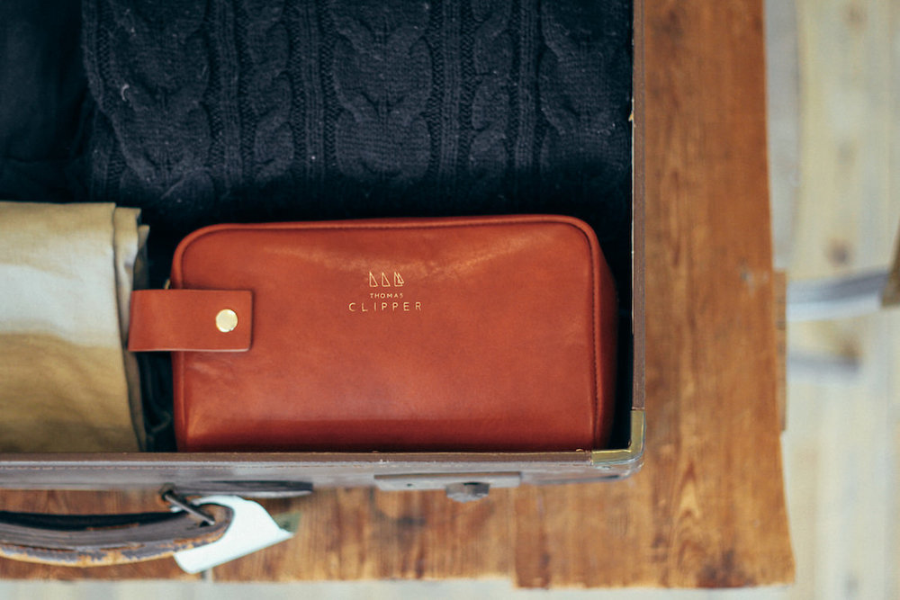 The Tuscan luxury wash bag by Thomas Clipper, take with you wherever you travel