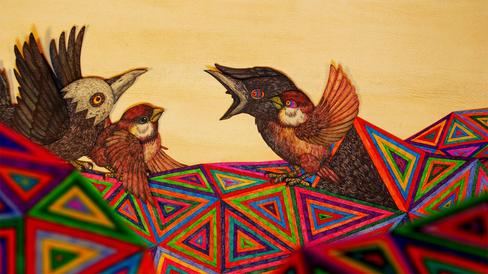 "- 作品名称:《梦雀》导演:柴觅制片:柴觅国家/地区:中国创作时间:2014 编剧:柴觅美术:柴觅音乐:Thruoutin,张萱片长:10分15秒Title: Birds Dream Director: Cai Mi Producer(s): Cai Mi Country/Area: China Year of Production: 2014 Screenplay: Cai Mi Design: Cai Mi Music: Thruoutin, Zhang Xuan Length: 10 mins 15 secs作品介绍这是一部关于梦与鸟的动画短片,主要以定格动画的方式拍摄完成,片中鸟类模型由艺术家手工绘制完成,此片很多想法源自2012年设计并启动的现场音乐动画演出项目""麻雀与乌鸦""。Synopsis This short animation is about dream and birds, mainly in the form of stop-motion film. In the animation, the bird models are hand-made by the artist and this film is largely inspired by the live musical animation show Sparrows and Crows in 2012."