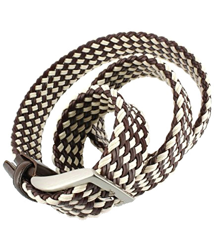 WOVEN BELTS - 1004 brown/beige