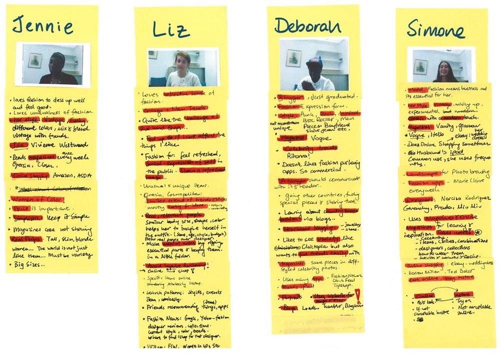 Data analysis from interviews