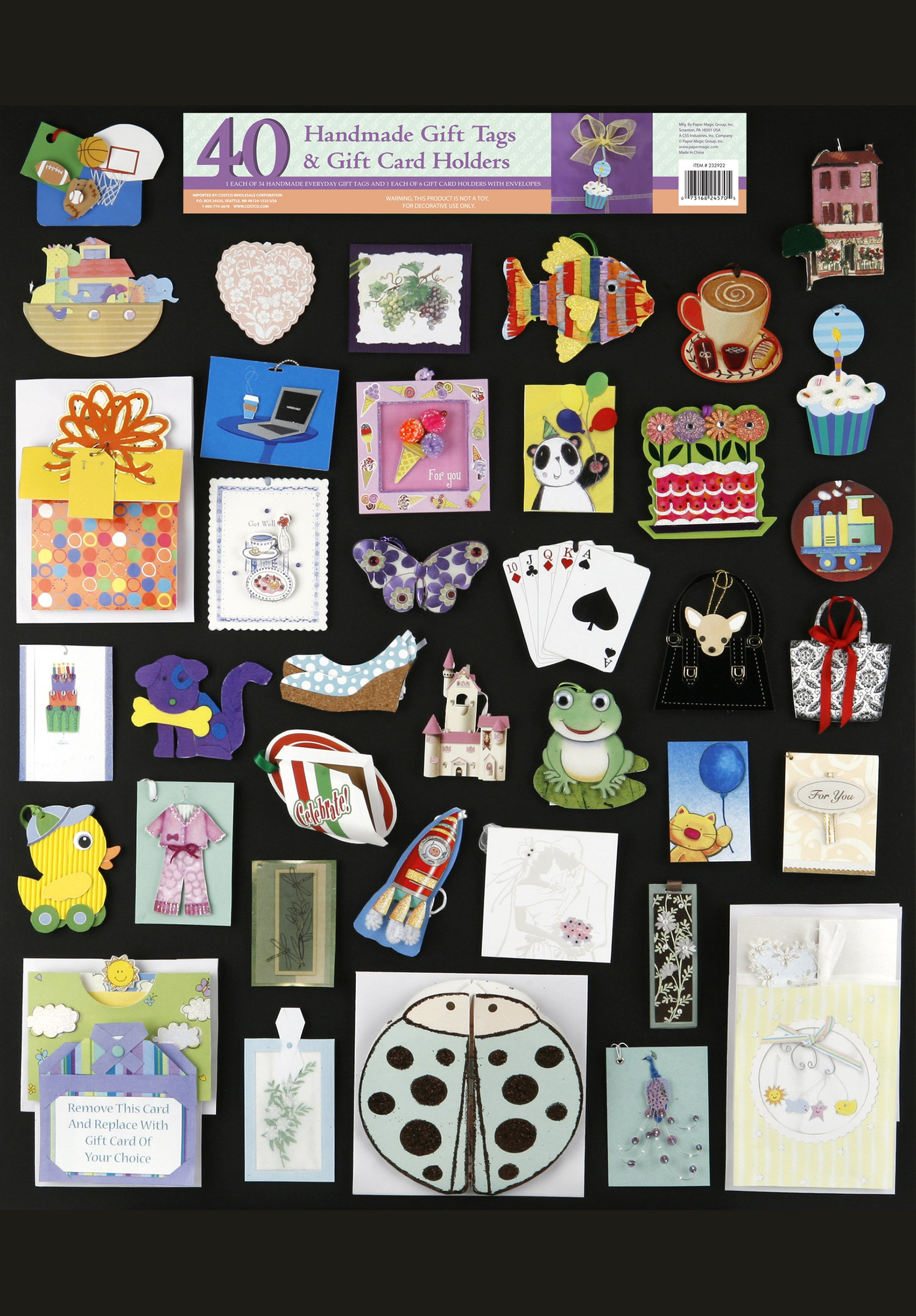40 count gift tags gift card holders - Gift Card Holders Wholesale