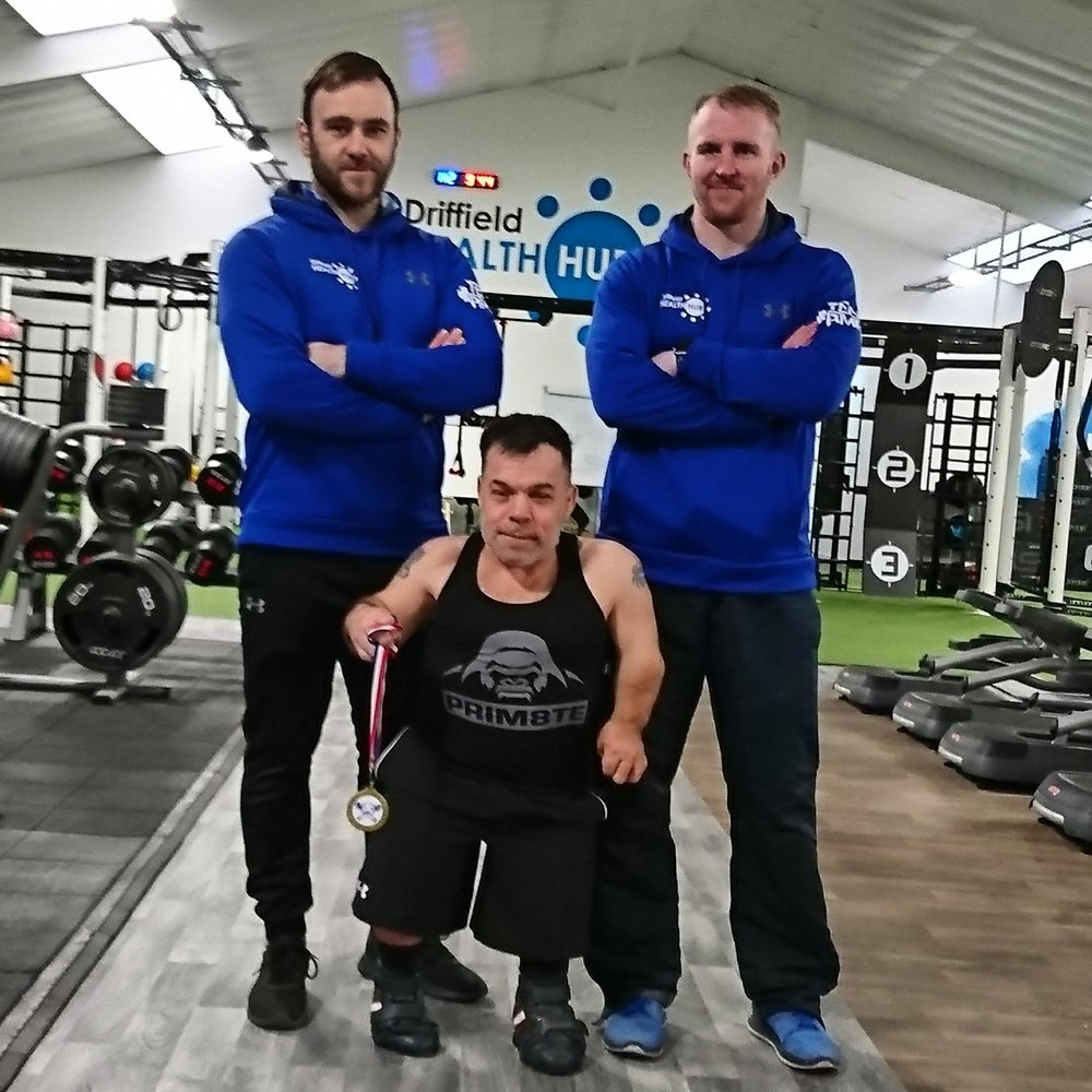 Rich with the health hubs personal trainers Adam & Rob