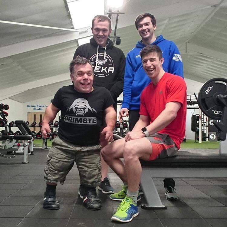 Harry and Rich in the gym with Coach Harrison Mayou & member Harry Lingard
