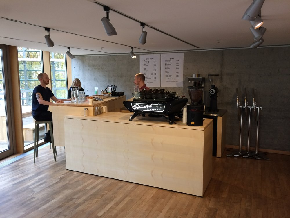 Embassy Kaffebar  - Berlin, Germany – Nordic folks love coffee so much they asked Oslo kaffebar to open a pop-up inside the Nordic Embassies in March 2014. In October 2016 the pop up was made permanent.