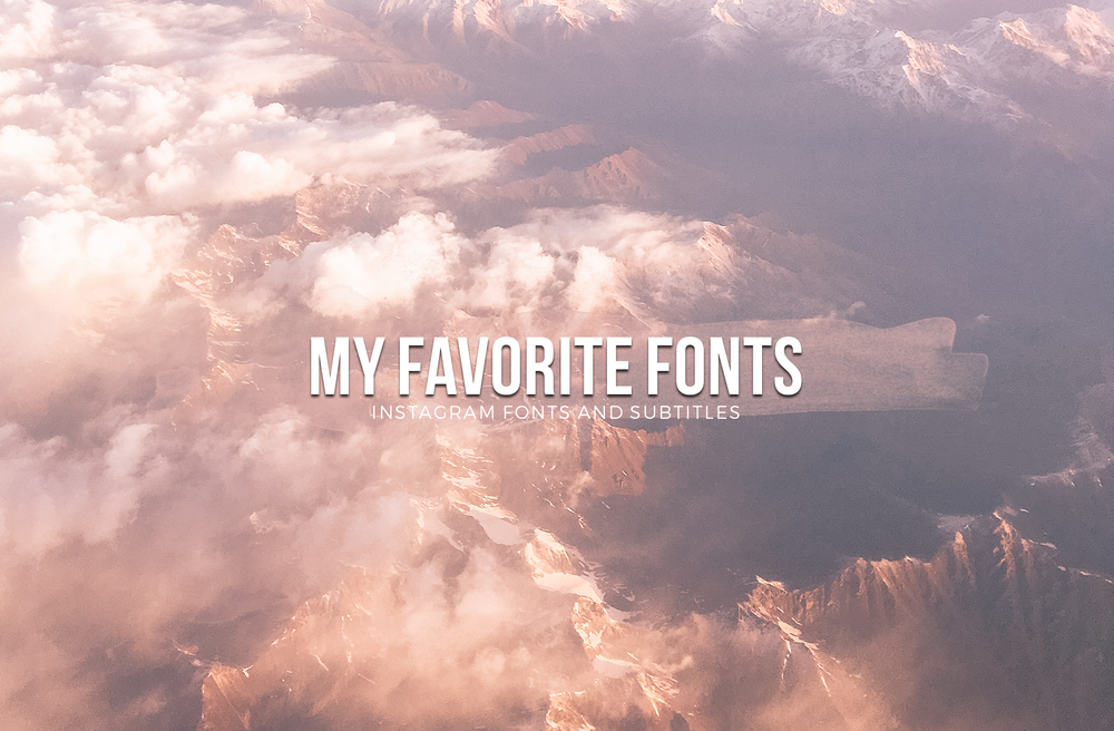 different instagram fonts