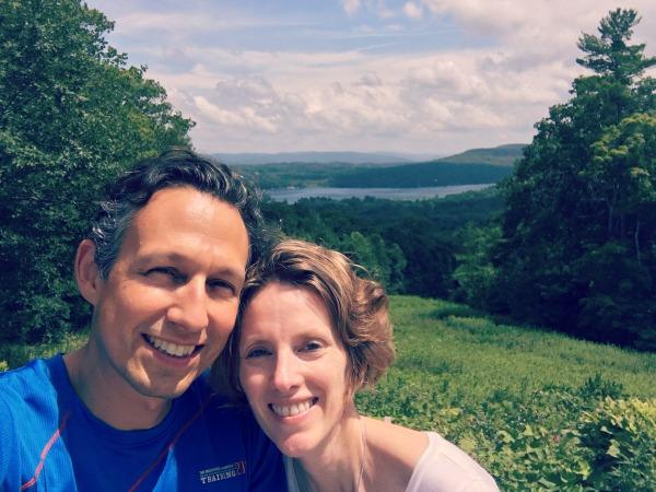 On couple's retreat at Kripalu Center, July 2018