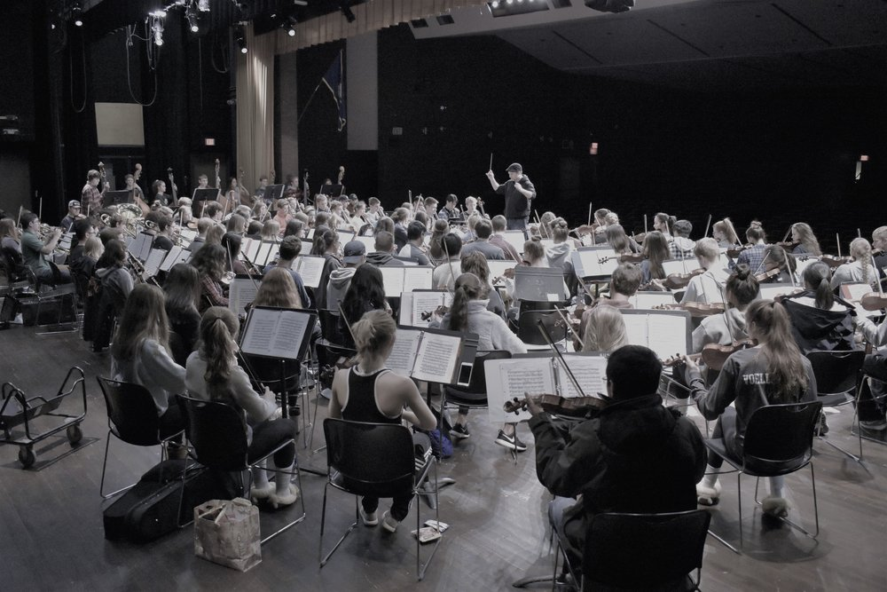 Symphonic Orchestra preparing for the Spring Concert, May 2018