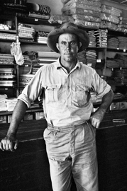 A farmer in Krisjan Geel's store at Zwingili in the Marico Bushveld, Transvaal, 1964