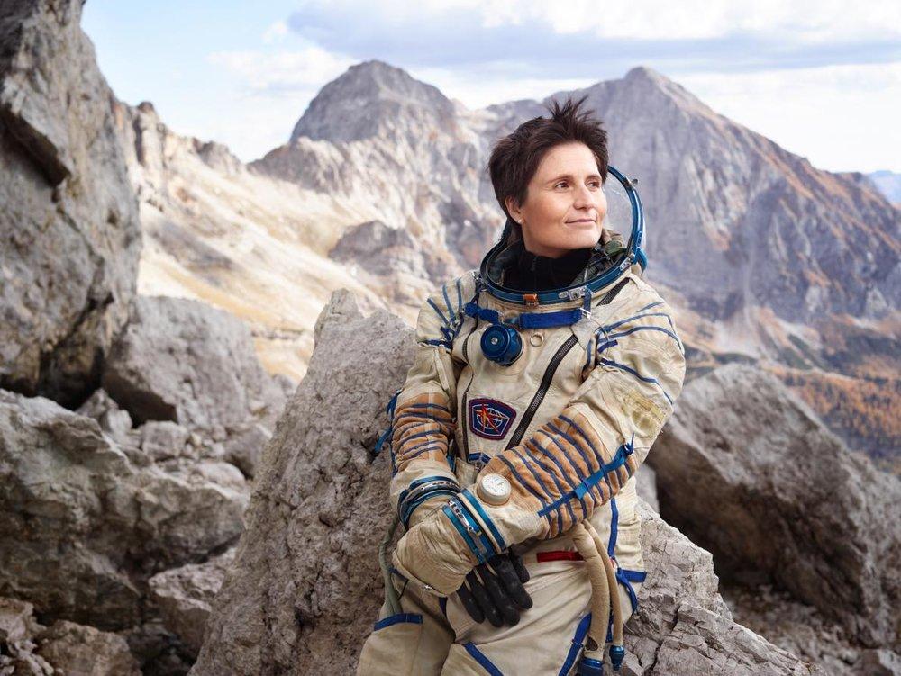 The Italian astronaut Samantha Cristoforetti. by MARTIN SCHOELLER