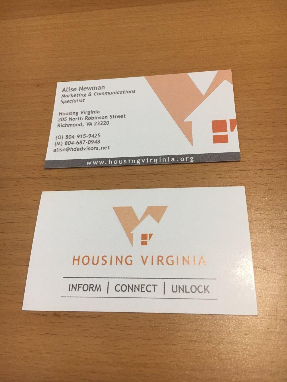 Housing virginia rebranding alise newman business cards colourmoves