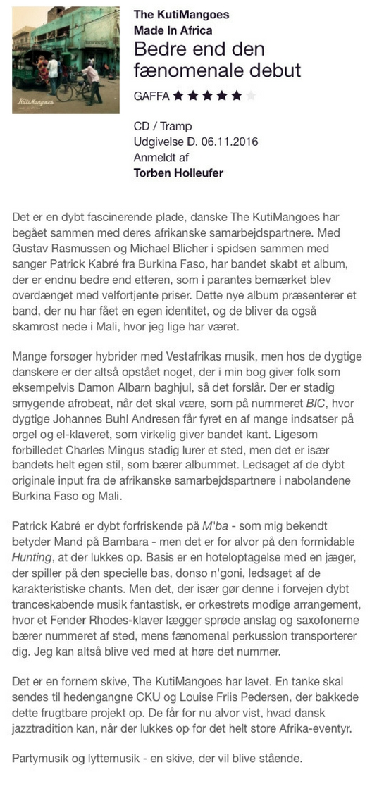 Gaffa: Bedre end den fænomenale debut (Danish)
