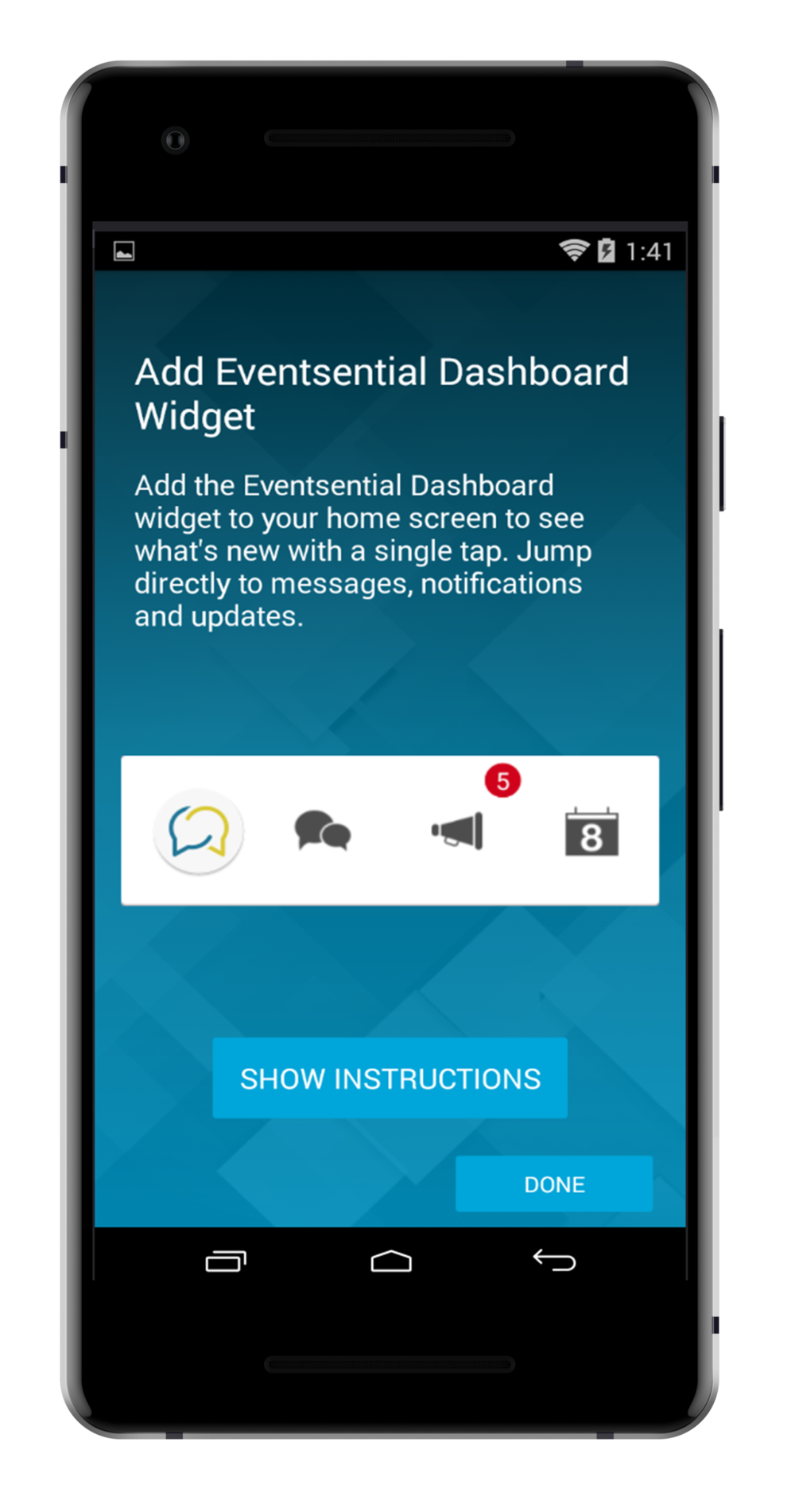 step 4. - OPTIONALCHOOSE WHETHER OR NOT YOU'D LIKE ADD THE APP WIDGET TO YOUR MOBILE DEVICES DASHBOARD.