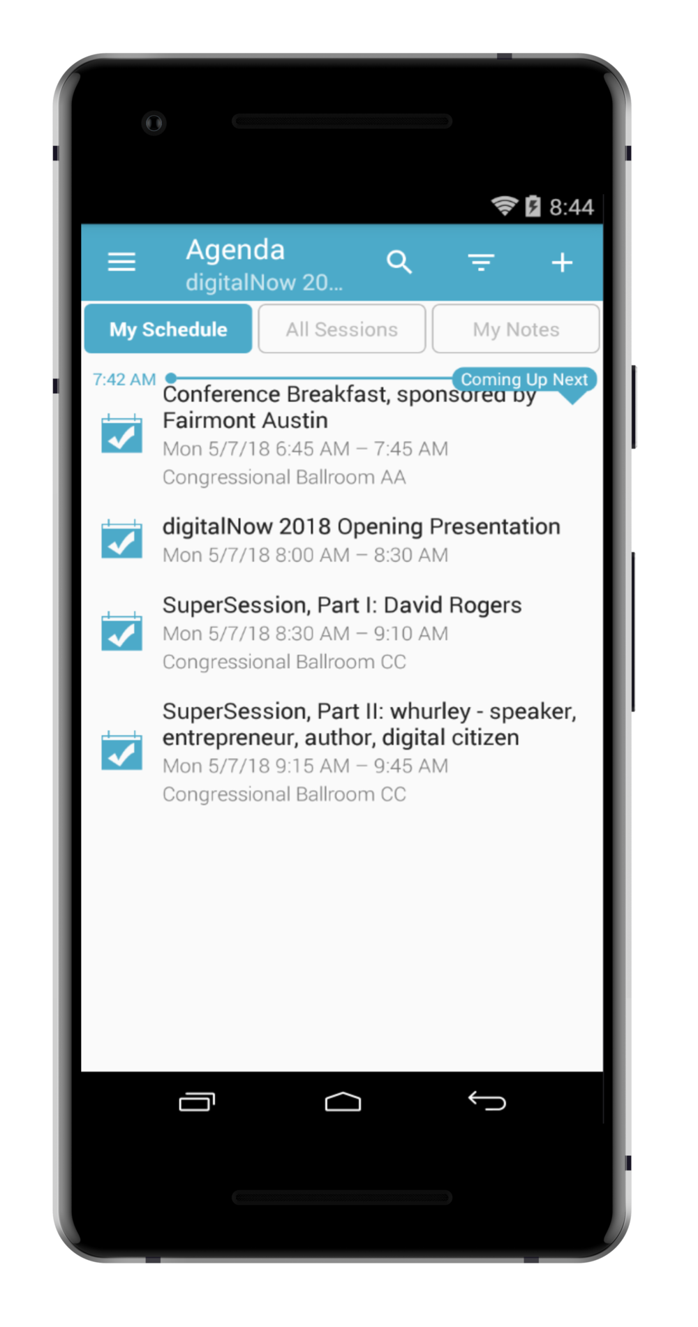 step 1. - FIRST SIGN IN TO THE APP USING YOUR LOG IN INFO AND THEN FROM THE MENU CLICK THE AGENDA TAB.
