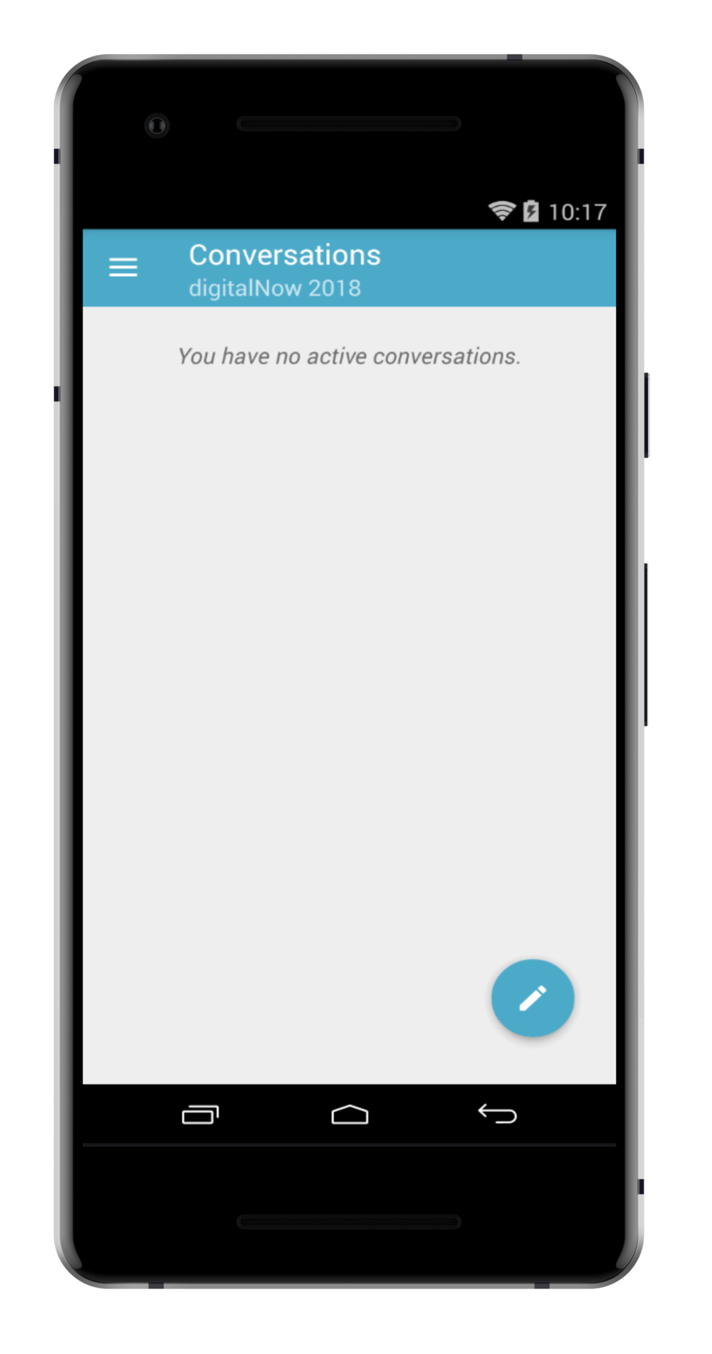step 2. - TAP THE LITTLE PENCIL ICON TO BEGIN YOUR FIRST CONVERSATION.