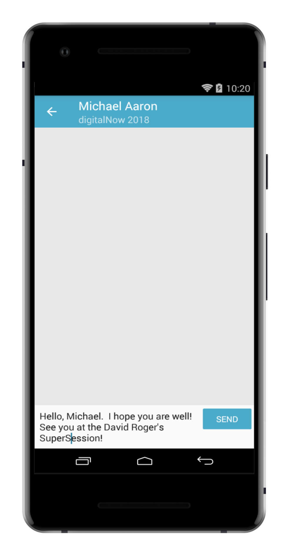 step 4. - WRITE YOUR MESSAGE AND THEN PRESS SEND.