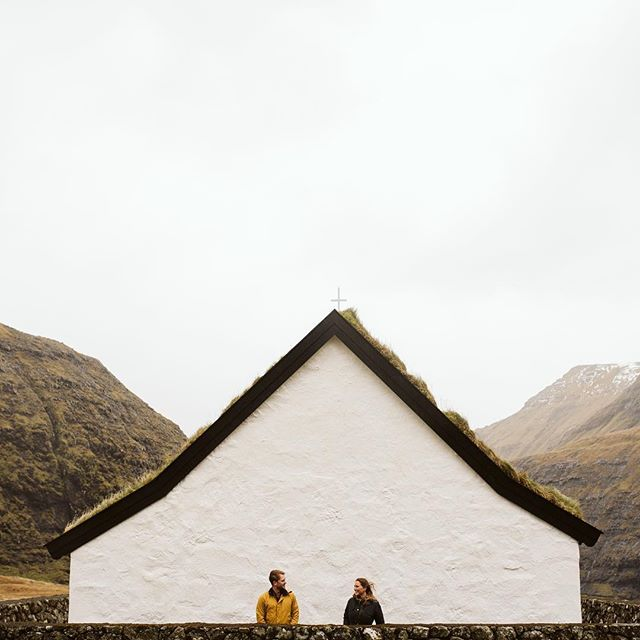 Three years ago we discovered this little chapel in the Faroe Islands and had a blast hiking the hills and exploring the surrounding black sand beaches, thank you @bernard0g0uveia for capturing us here, in the exact spot, years later, reliving one of our most favorite memories 🤗 #lexandzach @lexandzachtravel . . . #loveisallyouneed #exploretocreate #theimaged #earth_reflect #agameoftones #alwaysanadventure #nordicliving #livelifeoutdoors #epicplaces #barbourwayoflife #nordicstyle #nordicminimalism #hvmansouls #traveldreamseekers #livefolk #wanderfolk #faroeislands #travelstoke #neverstopexploring #makingmoments #visitfaroeislands #weddingphotographer #adventurers #adventureisoutthere #travelbloggers