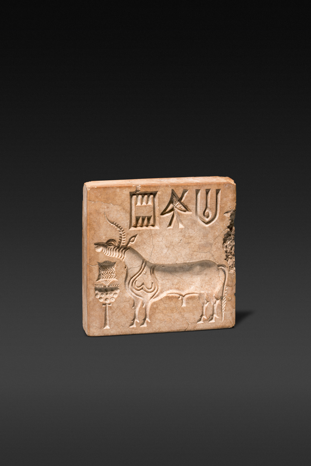 Harappan bull or 'unicorn' seal with censer and 'script' - Steatite2500–2000 BCMohenjodaro, Sindh, PakistanNational Museum, New Delhi