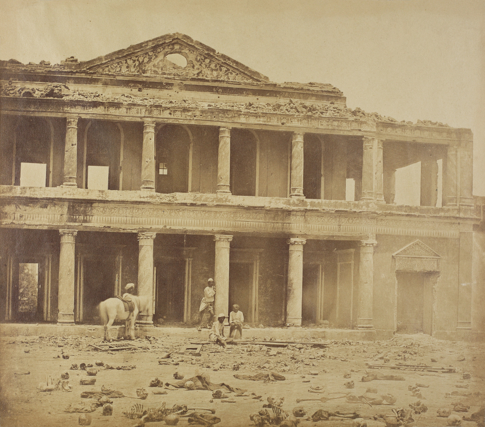 Aftermath of the Mutiny in Secundrabagh, Lucknow - Photograph by Felice BeatoAlbumen Print1858Alkazi Foundation for the Arts, New Delhi