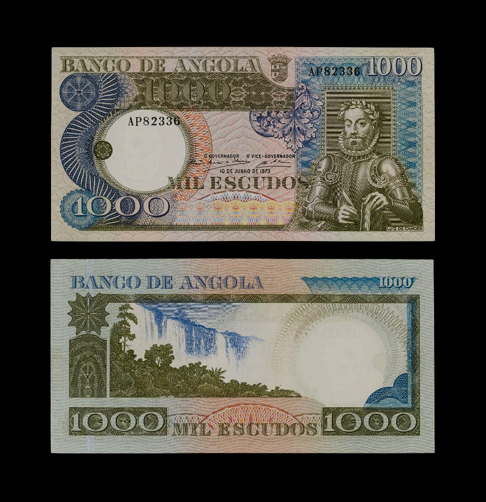 Angolan Banknotes:1000 Escudos - PaperAD 1973AngolaBritish Museum