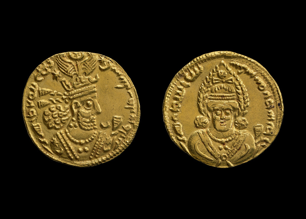 Sasanian coin of Shapur II - GoldAD 611IranBritish Museum