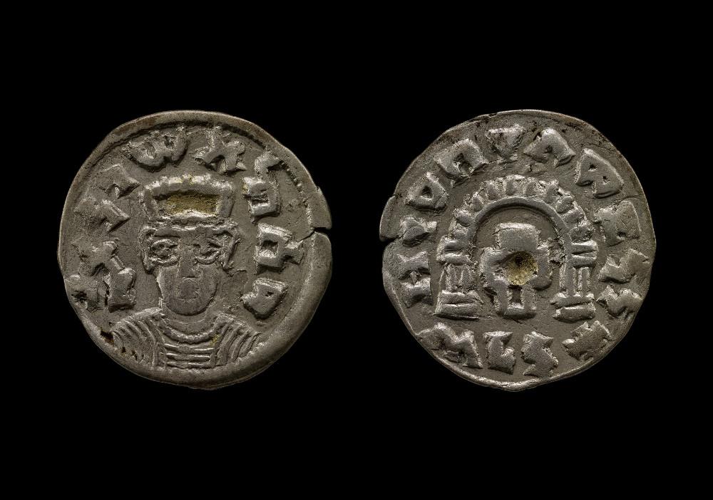 Aksumite coin of Za-ya'abiyo la madhen negus - SilverAbout AD 520–550EthiopiaBritish Museum