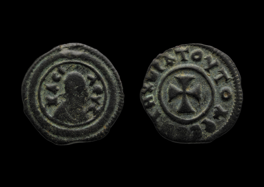 Aksumite coin of Za-ya'abiyo la madhen negus - SilverAbout AD 520–550EthiopiaBritish MuseumThe Kingdom of Aksum (about AD 1–940) was centred around northern Ethiopia and Eritrea. Christianity was adopted as the state religion of Aksum in about AD 330. Aksumite coins were the first to show the Christian cross on one of their sides. On the other side, coins featured stylised images of the rulers, sometimes accompanied by an inscription which read, 'the king who exalts the saviour'.