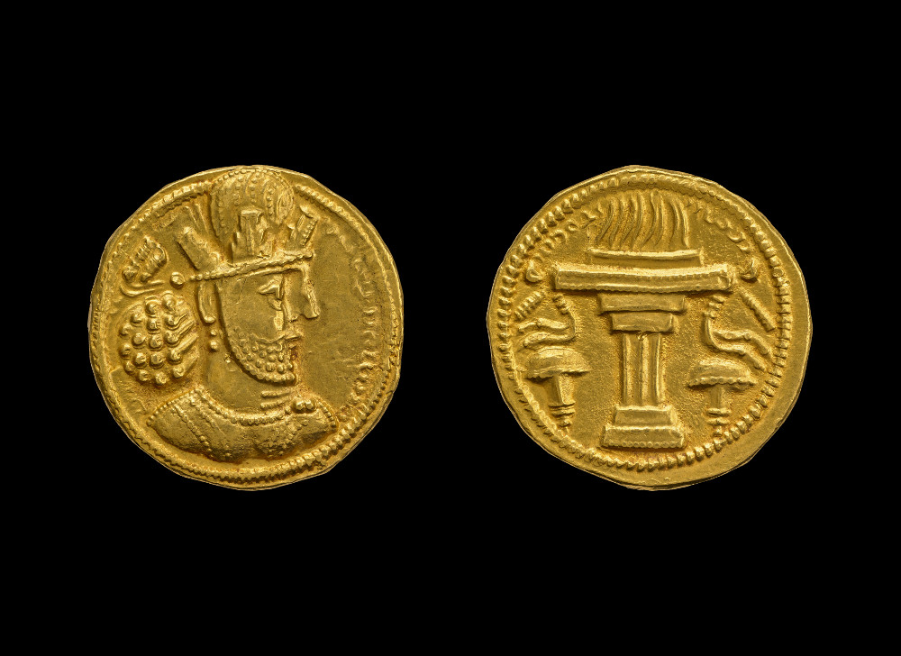 Sasanian coin of Shapur II - GoldAD 309–379IranBritish Museum