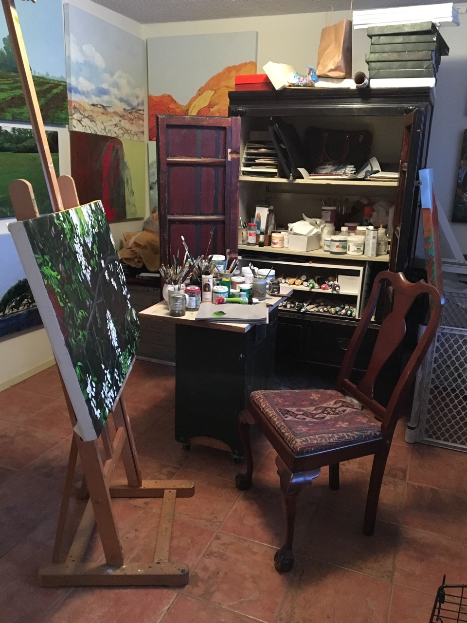 Nancy Young's studio |  nancyyoungart.com