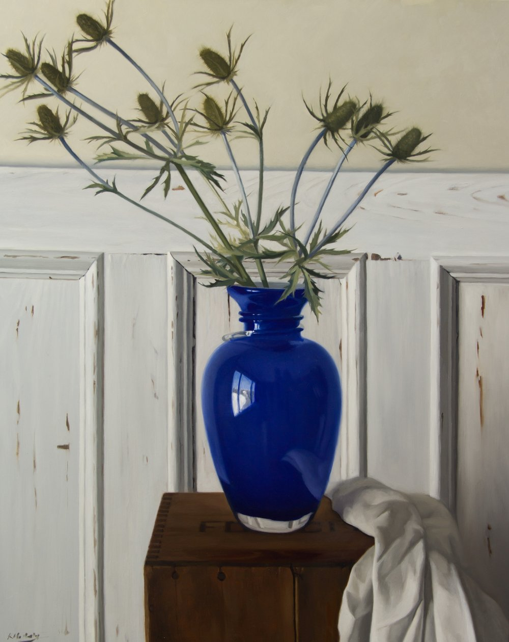 Blue Vase & Thistle | Katherine McNenly | Artist | The Ten Collective