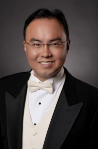 Choir Director   Dr. Jaeyoon Kim   D.M.A. in Voice Performance from University of South Carolina  M.M. in Choral Conducting from University of South Carolina  Artist Diploma in Opera from The Cleveland Institute of Music  M.M. in Voice Performance from College Conservatory of Music in University of Cincinnati.  Currently, he teaches voice and choir at the University of North Carolina at Pembroke as an Associate Professor.