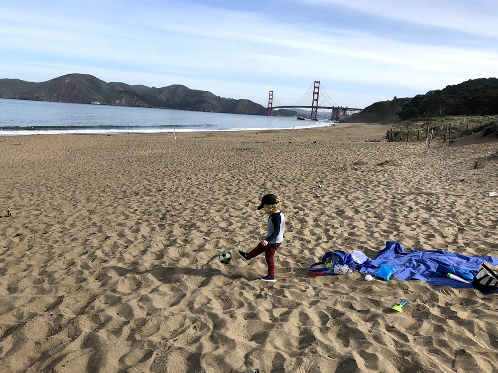 Baker Beach is an amazing spot from sunrise to sunset. Nothing better than building sand castles with the Golden Gate Bridge in the background. -