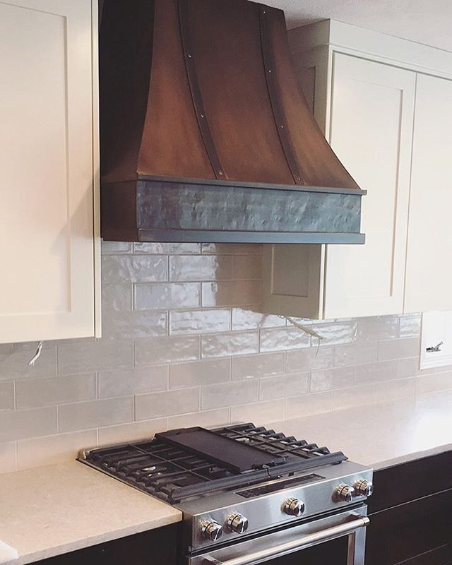 Loving this metal hood installed in a classic rustic contemporary kitchen #LOI #nofilterneeded