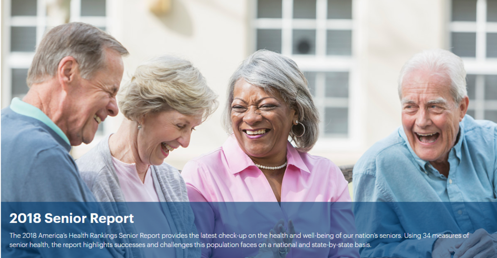 Senior Report - The America's Health Rankings® Senior Report recently completed its fifth year, in 2018, of presenting a comparative health report for the U.S. population aged 65 and older.2019 Copyright United Health Foundation