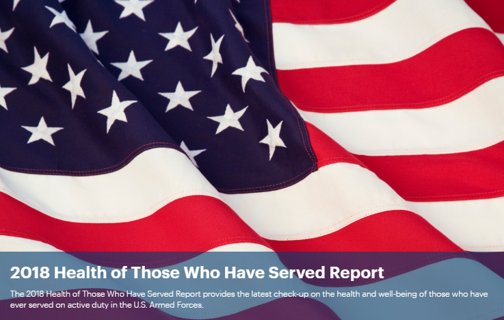 """America's Health Rankings Veterans Report - America's Health Rankings® and America's Health Rankings® Health of Those Who Have Served Report were built upon the World Health Organization definition of health: """"Health is a state of complete physical, mental, and social well-being and not merely the absence of disease or infirmity."""" Our model reflects that determinants of health—Behaviors, Clinical Care, Policy, and Community and Environment—directly influence health outcomes.Copyright 2018 United Health Foundation"""