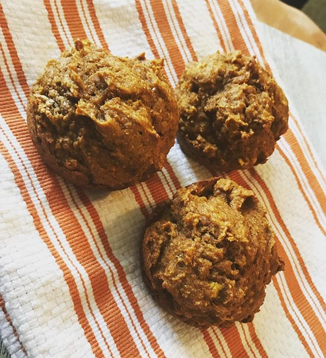 This Pumpkin Apple Muffin recipe is AMAZING!!! I pull this recipe out every Fall and usually make a double batch to freeze. This recipe is Super easy and the muffin turn out SO moist! If you are wanting to try a new Fall recipe check this one out!  www.thedarlinduo.com/food-1  What is your favorite fall recipe?? #fallrecipes #pumpkinmuffins #lovefall #pumpkinspiceeverything #fallismyfavorite #pumpkin